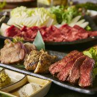 肉料理をメインとした創作和食コースは飲み放題付き3000円~♪
