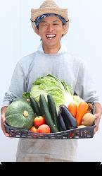 野菜は自社農園で栽培。採れたばかりの新鮮な野菜達を召し上がれ