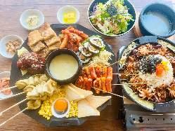 チーズ焼肉&絶品韓国料理をリーズナブルに!同時に!1980円