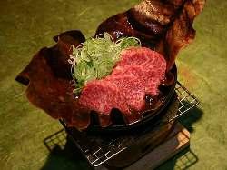 郷土料理「飛騨牛朴葉みそ焼ステーキ」