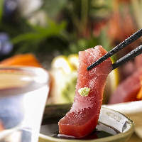 当店自慢の鮮魚メニューはぜひご賞味ください。歓送迎会に。