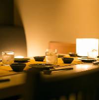 和情緒漂うこだわりのデザイン個室はデートや接待にも最適。