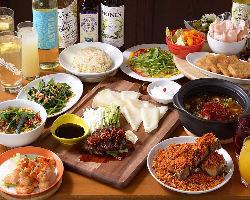 台湾屋台料理やバル料理で大満足の飲み放題付き宴会コース