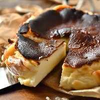 極濃!口の中でとろけるチーズ屋さんの『バスク風チーズケーキ』