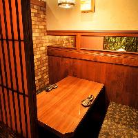 温かみのある落ち着いた空間◎人気の完全個室
