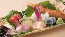 自ら目利きした料理長自慢の鮮魚のお造りを是非ご堪能ください