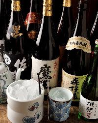 焼酎の獺祭や魔王、森伊蔵など愛好家なら一度は嗜みたい銘酒揃い
