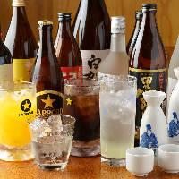 厳選した焼酎や日本酒をご用意。ご希望銘柄の入荷も可能です