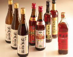 【中国酒】紹興老酒、古越龍山など、様々な銘柄をご用意。