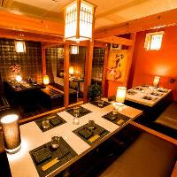 モダンテイストが自慢の完全個室。昼宴会も大歓迎です!