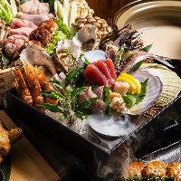 和食地鶏コースは2999円より◆全コース飲み放題付きでご提供。