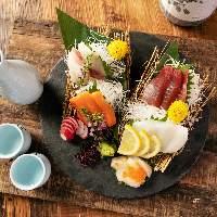 鮮魚のメニューや日本酒に合う創作和食もございます