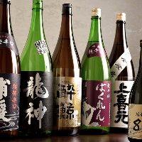 【日本酒】 飲み比べてお気に入りの一杯を見つけてみてください