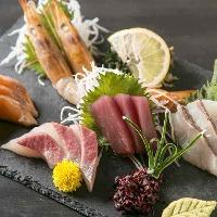 【アラカルト】 市場直送の旬鮮魚や佐賀の黒毛和牛をご堪能