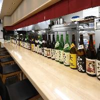 【日本酒】 静岡の全酒蔵から仕入れるお酒がずらりと並びます