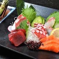 新鮮な鮮魚を静岡県産の生わさびでお召し上がりください。