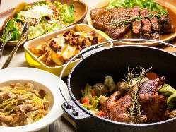 自慢の多国籍料理ご堪能ください!