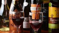 ワインやスパークリングワインのカクテル豊富◎単品飲み放題あり