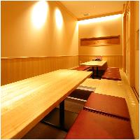 最大14名様まで収容可能な完全個室有。各種ご宴会、お祝い事に◎