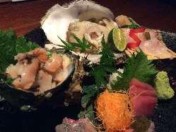 和食職人の目利きによる日替わり入荷の鮮魚を多数ご用意!