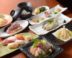 個々盛り料理でご提供する本格和食コースを4,000円(税込)~