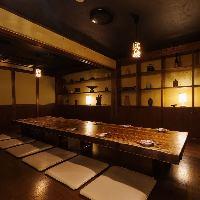 完全個室は4~30名様迄。各種ご宴会に最適です。