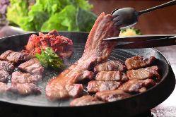 15種のお野菜とサムギョプサルが食べ放題!食べて食べてヘルシー