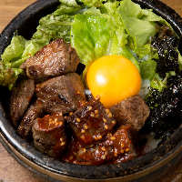炙り牛肉でビビンパが美味しい!ぜひ一度ご賞味を!