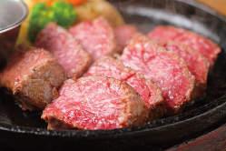 \4,000コースの鉄板赤身肉ステーキ!!