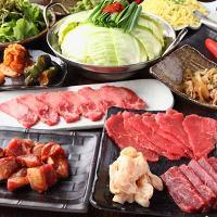 人気一番人気の増太郎コース!自慢の焼肉ともつ鍋をいただけます