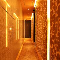 間接照明の効いた大人な雰囲気の店内は居心地も◎