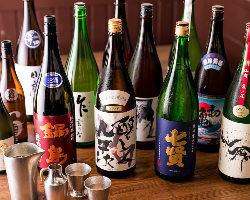 厳選された土鍋めしに合う日本酒を多数用意しております!