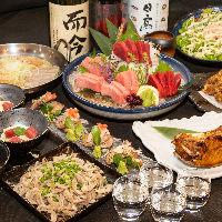 各種ご宴会に最適な飲み放題付コースは全5種ご用意しております