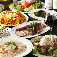 美味しい料理と飲み放題 選べるコースはFD付3850円2名様~OK!