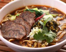 台湾の香りそのまま!特製台湾牛肉麺(ニュウロウメン)
