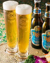珍しい、タイガービールの生が楽しめます!!その名も生タイガー!!