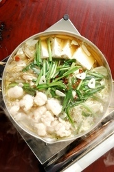 【もつ鍋】 もつは宮崎・鹿児島限定、自慢の博多もつ鍋です