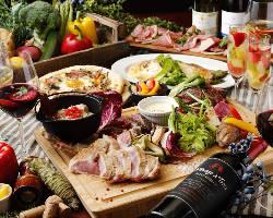 旬の食材で作る絶品イタリアンを堪能できる宴会コース2,500円〜