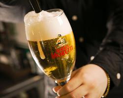 """イタリア産""""世界No.1""""のビール『モレッティ』を樽生でご提供"""