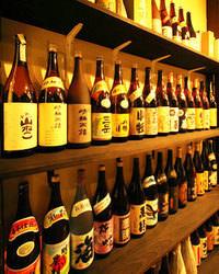 プレミア酒からレギュラー酒まで多種多様な品揃え。