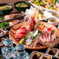 [こだわりの宴会が叶う] 漁港直送鮮魚や契約農家直送の野菜使用