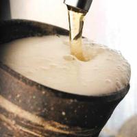 陶器で冷やした生ビール