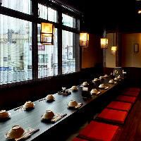 個室 最大38名様までの飲み放題付き宴会コース承ります。