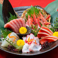 魚も美味しい!!毎日新鮮な魚を仕入れています