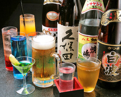 お酒の種類も充実♪飲み放題もございます
