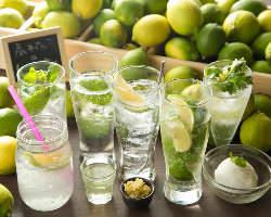 《濱たん》と言えばレモンサワーが有名。和歌山レモンで18種類!