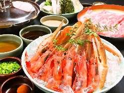記念日など!蟹・海老食べ放題! 牛しゃぶとすべて食べ放題!