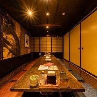 新潟駅徒歩3分。4名様からご利用頂ける半個室をご用意!