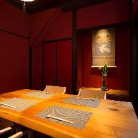 【優雅な個室空間】 高級感溢れる個室で寛ぎのひとときを…