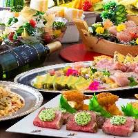 見た目も美しい料理の数々はハレの日にもぴったりです。